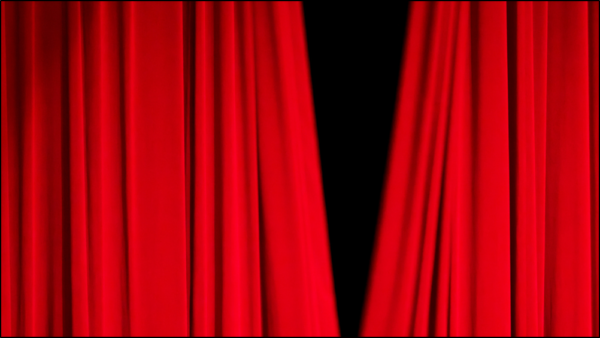 Curtain reveal